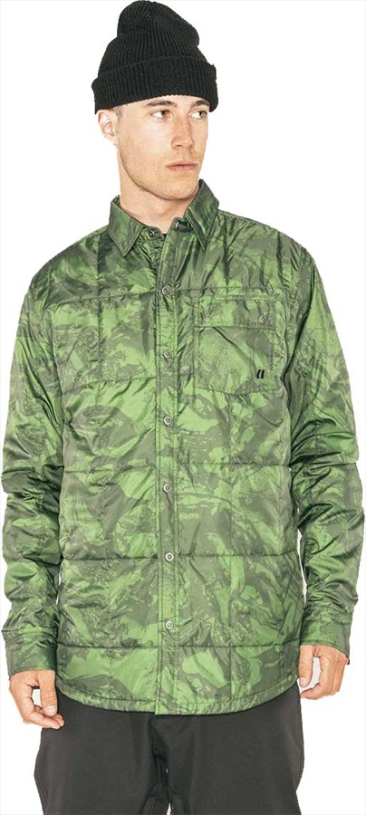 Armada Bryce Insulated Ski/Snowboard Shirt, S Forest Green Marble
