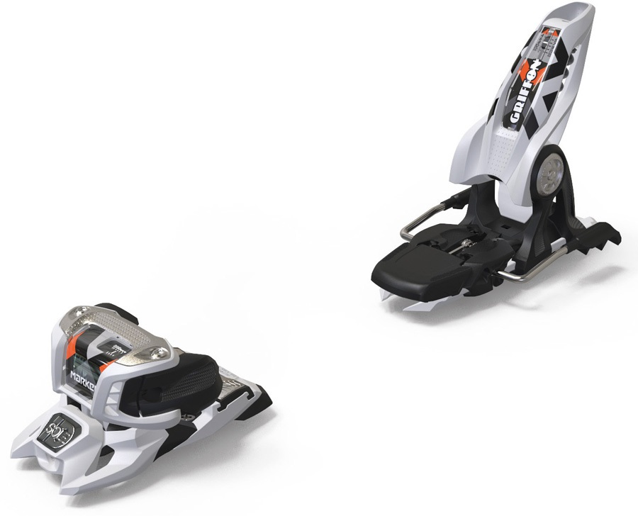 Marker Griffon 13 ID Ski Bindings, 110mm White/Orange