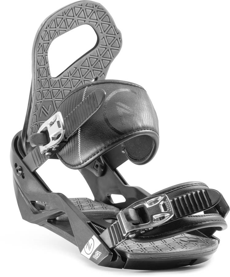 Nidecker Adult Unisex Sky Snowboard Bindings, L/XL Black/Grey 2020