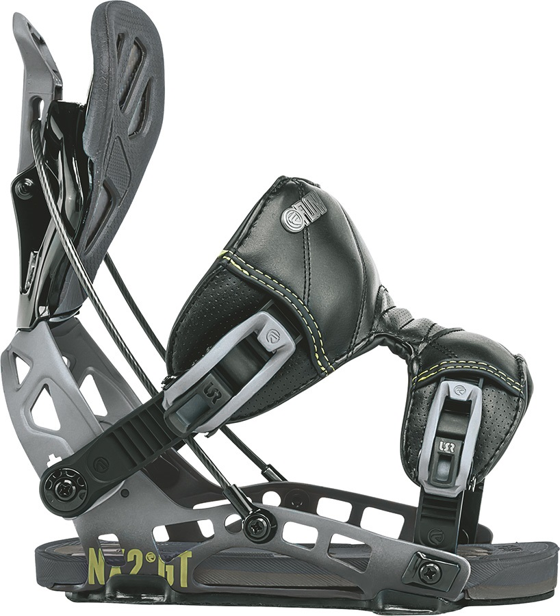 Flow NX2 GT Fusion Step In Snowboard Bindings, XL Black 2018