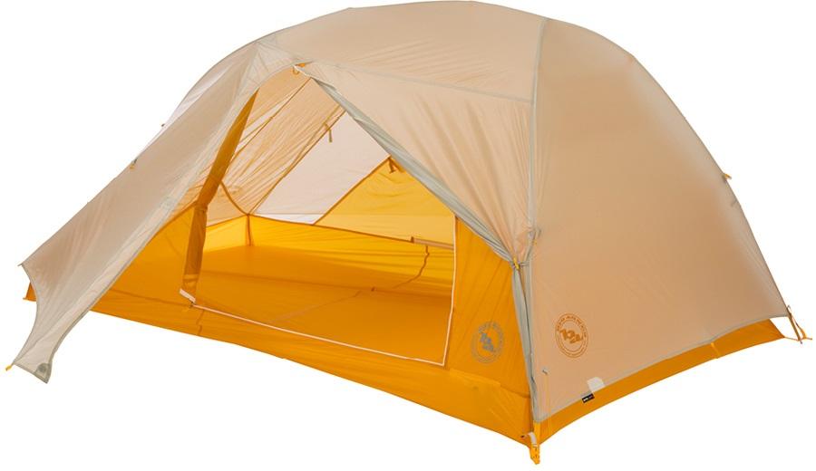 Big Agnes Tiger Wall 2 UL Ultralight Backpacking Tent, 2 Man Grey/Gold