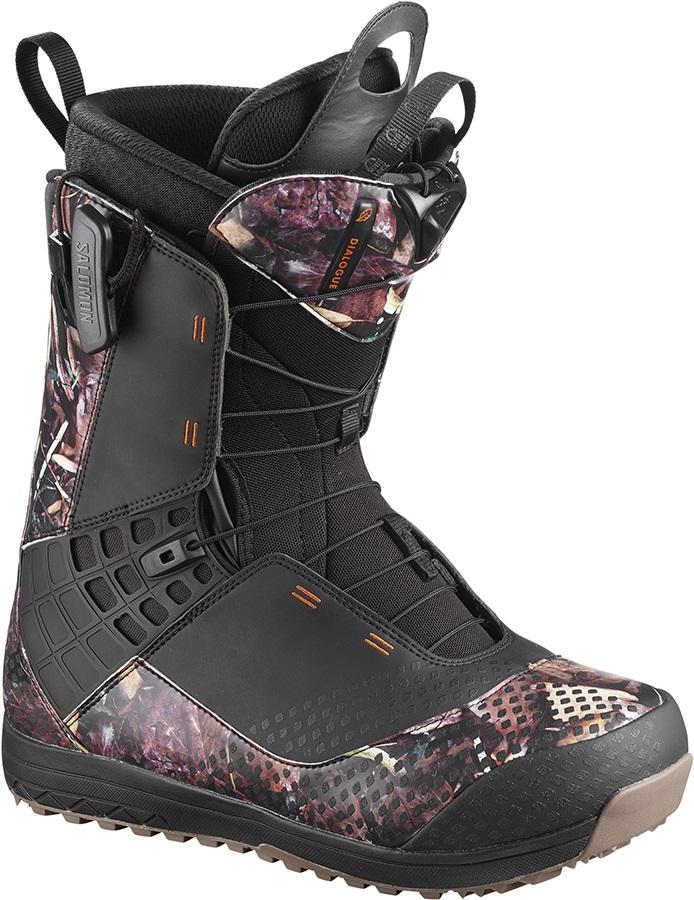 Salomon Dialogue Wide JP Mens Snowboard Boots, UK 6.5 Camo 2019