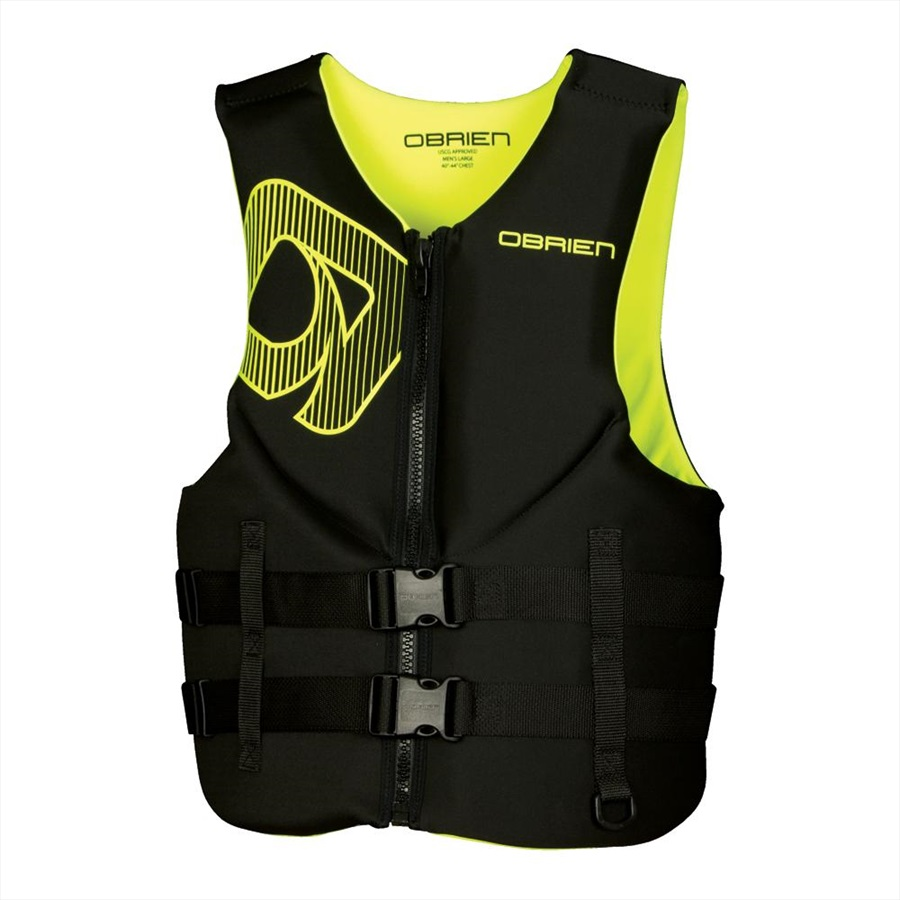 O'Brien Traditional Neo Ski Impact Vest Buoyancy Aid, S Green Yel 2020