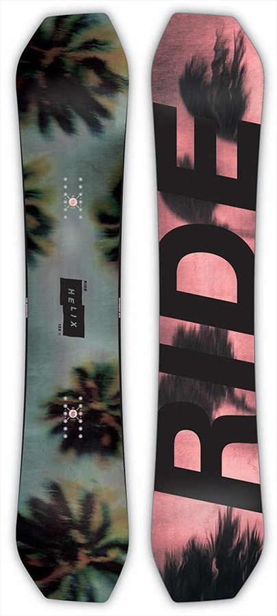 Ride Helix Positive Camber Snowboard, 159cm Wide 2019
