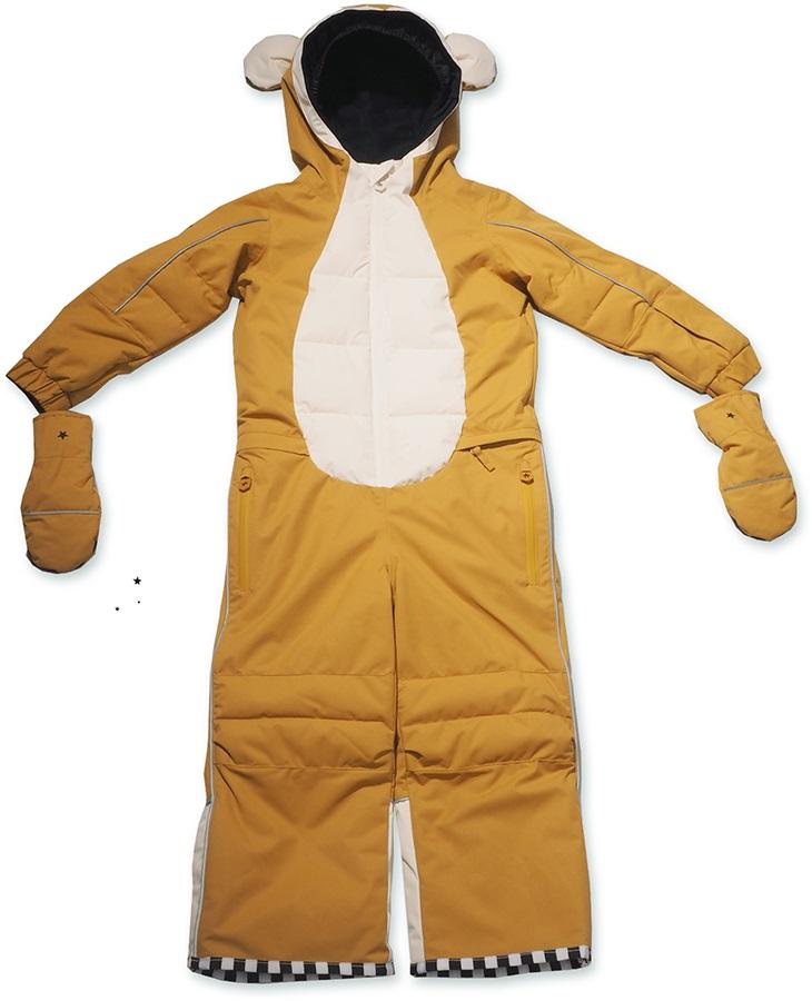 WeeDo Monkey Snow Suit & Mitts Kids Insulated Snow Onesie, 2-4 Years