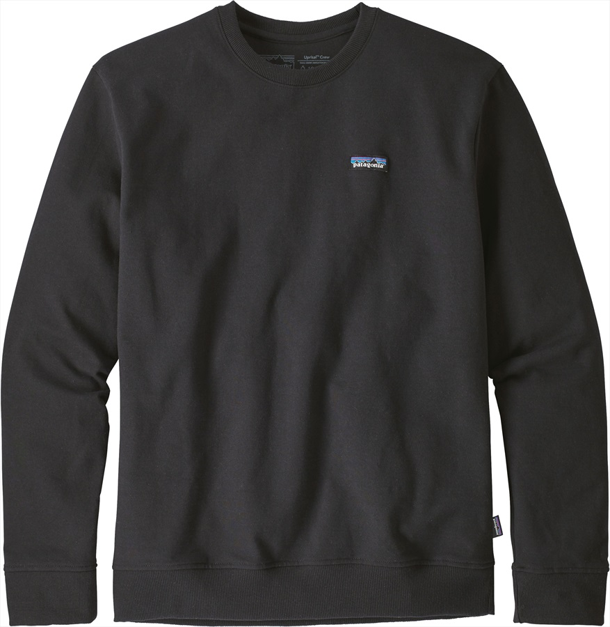 Patagonia P-6 Label Uprisal Crew Sweatshirt, S Black