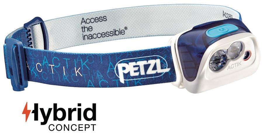 Petzl Actik Headlamp Headtorch, 300 Lumens Blue