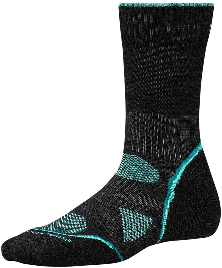 Smartwool PhD Outdoor Light Crew Women's Hiking Socks, 2-4.5, Charcoal
