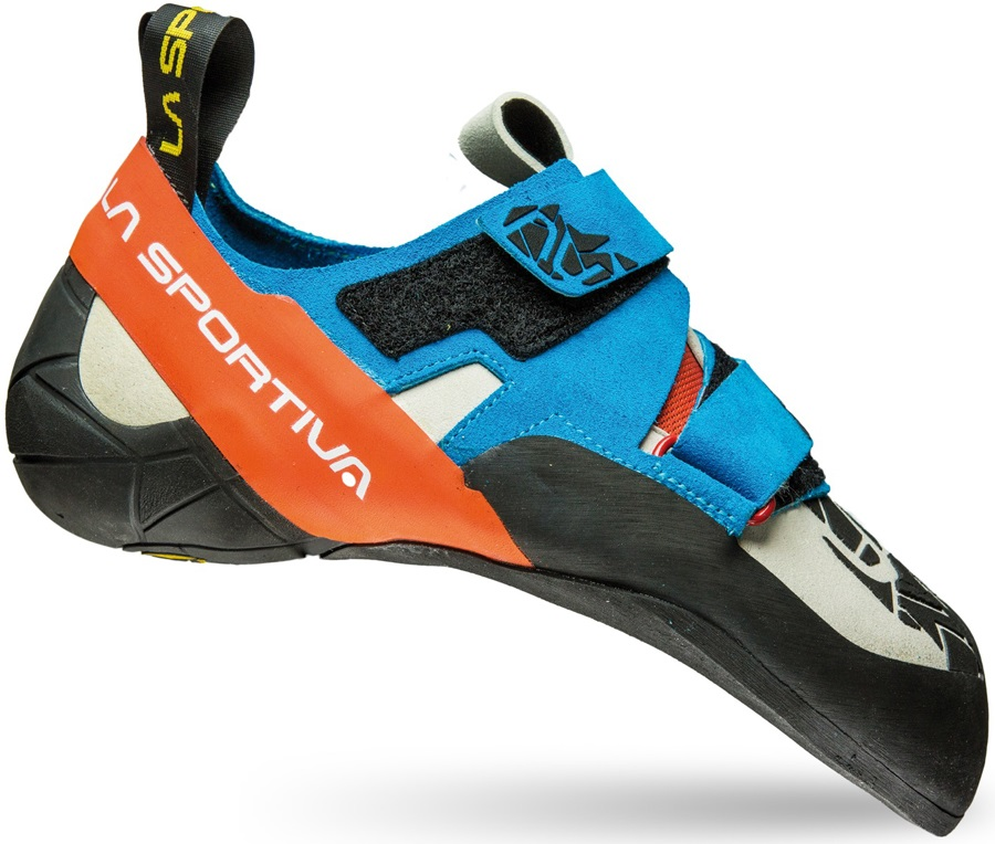 La Sportiva Otaki Rock Climbing Shoe: UK 9 | EU 43, Blue Flame
