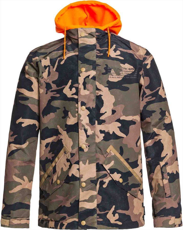 DC Union Ski/Snowboard Jacket, S Olive Night Vintage Camo