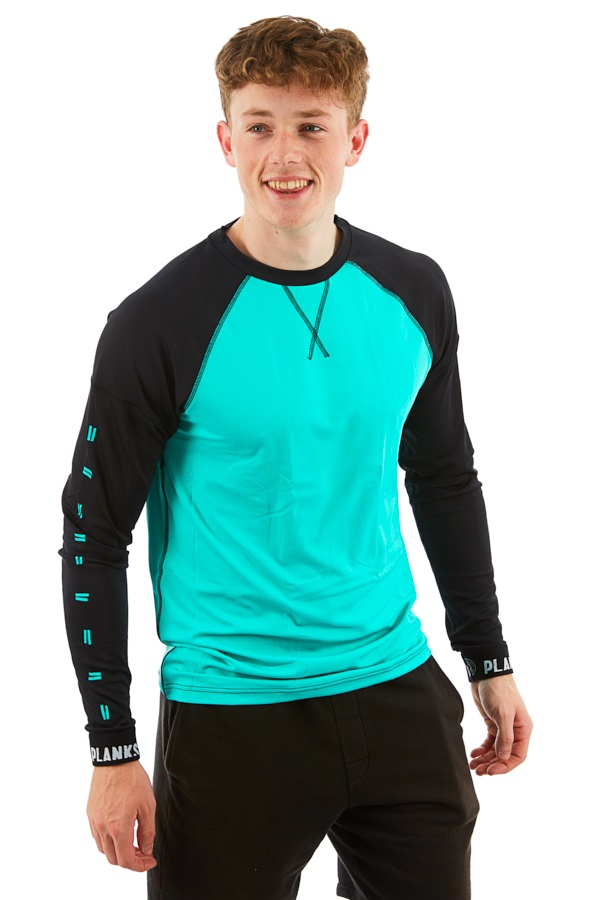 Planks Fall-Line Base Layer Thermal Top, M Teal