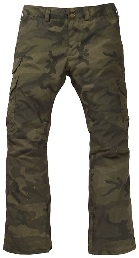 Burton Cargo Relaxed Fit Snowboard/Ski Pants, XL Worn Camo