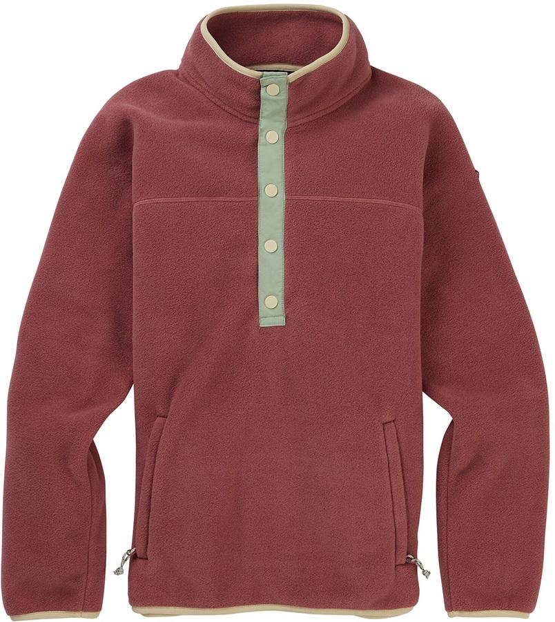 Burton Hearth Pullover Women's Snap-Up Fleece, S Rose Brown