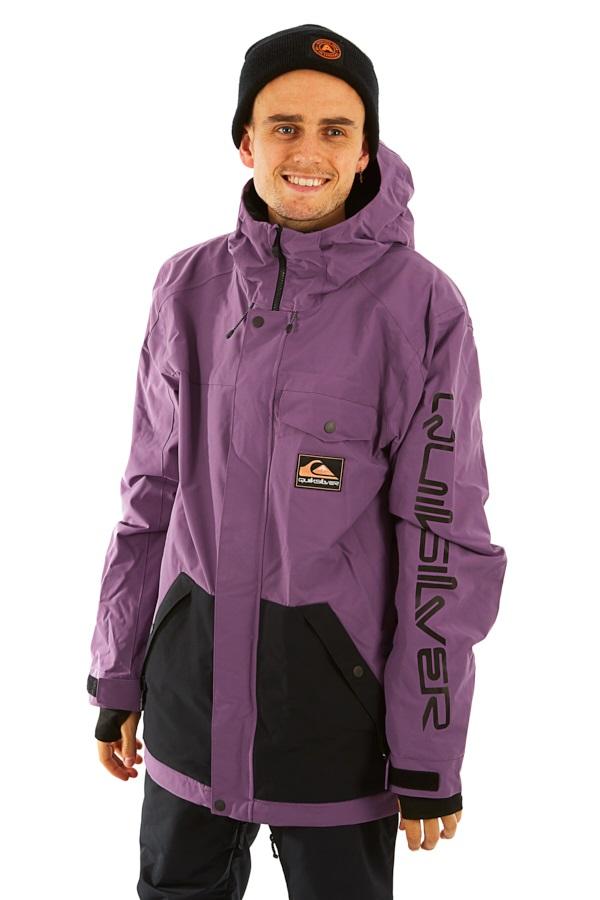 Quiksilver In The Hood Anniversary Ski/Snowboard Jacket, L Grape