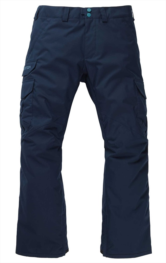 Burton Cargo Short Fit Snowboard/Ski Pants, L Dress Blue