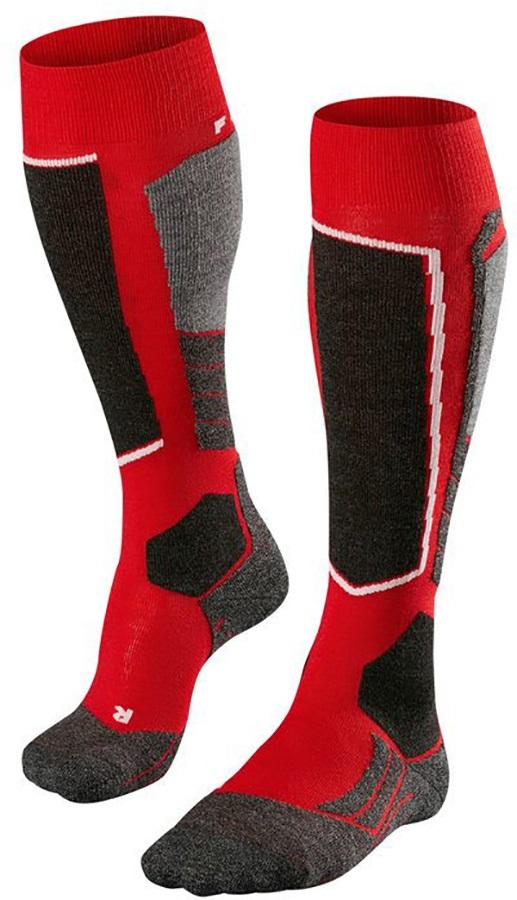 Falke SK2 Merino Wool Ski Socks, UK 5.5-7.5 Lipstick