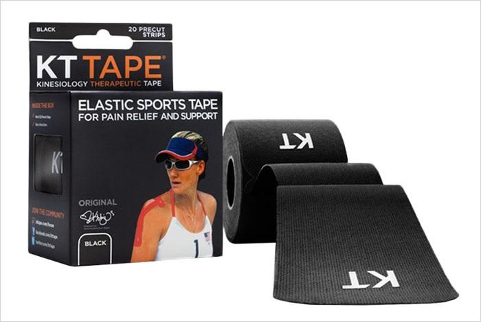 KT Tape Cotton Original Uncut Kinesiology Tape, 16ft Black