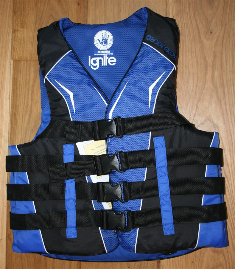 Body Glove Ignite 4 Buckle Approved Buoyancy Vest, M Blue