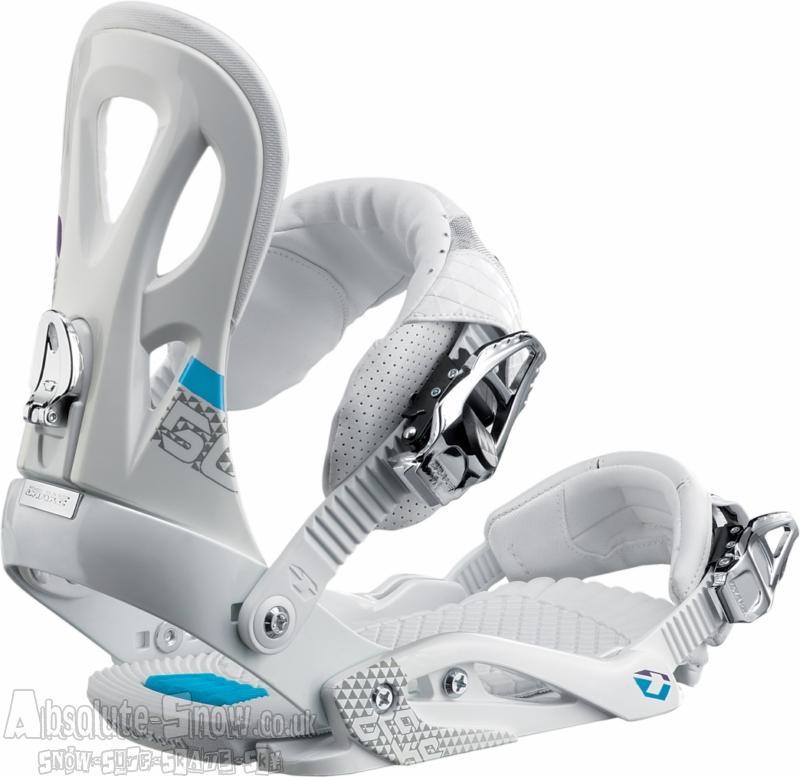 Drake Fifty Snowboard Bindings, White XL (UK 10-14), 2011
