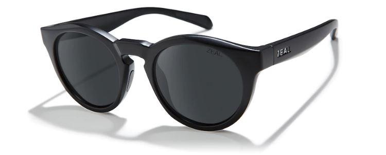 Zeal Crowley Dark Grey Sunglasses, Matte Black