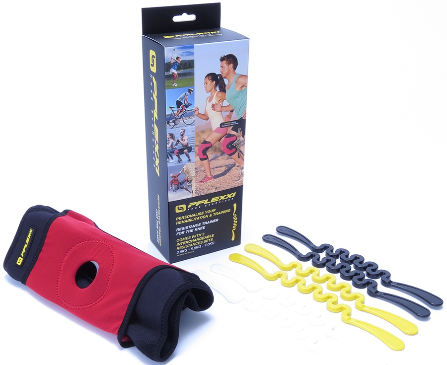 PFlexx Wraparound Knee Brace Cross Fit Trainer, L Red