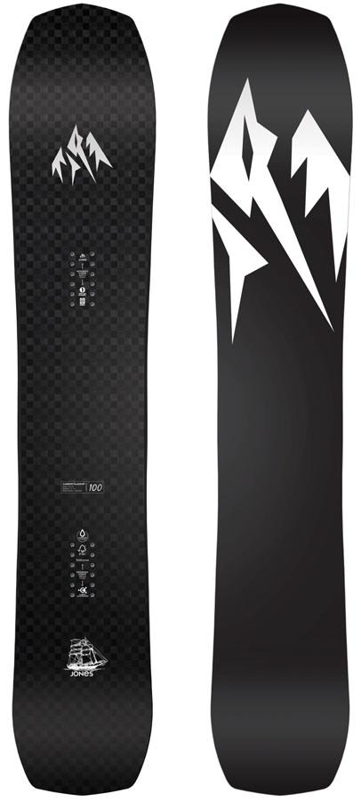 Jones Carbon Flagship Hybrid Camber Snowboard, 165cm Wide 2020