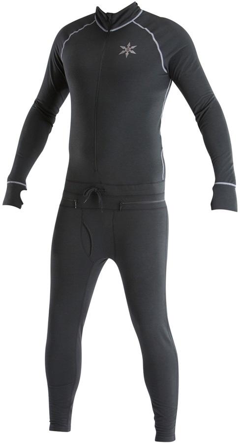 Airblaster Hoodless Ninja Suit Thermal Base Layer, S Black