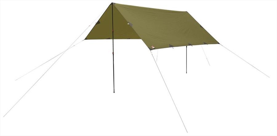 Robens Trail Tarp Lightweight Waterproof Camping Shelter, 4x4m Green