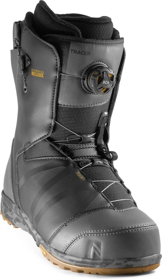 Nidecker Tracer BOA Heel-Lock Coiler Snowboard Boots, UK 9 Black 2020