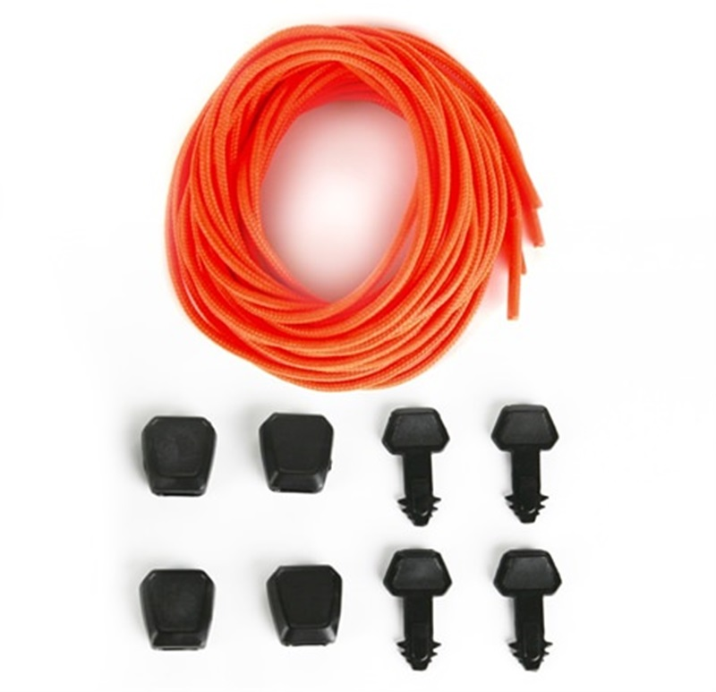 Ronix Auto Lock Lace Kit For Wakeboard Bindings, 4 Pack Orange