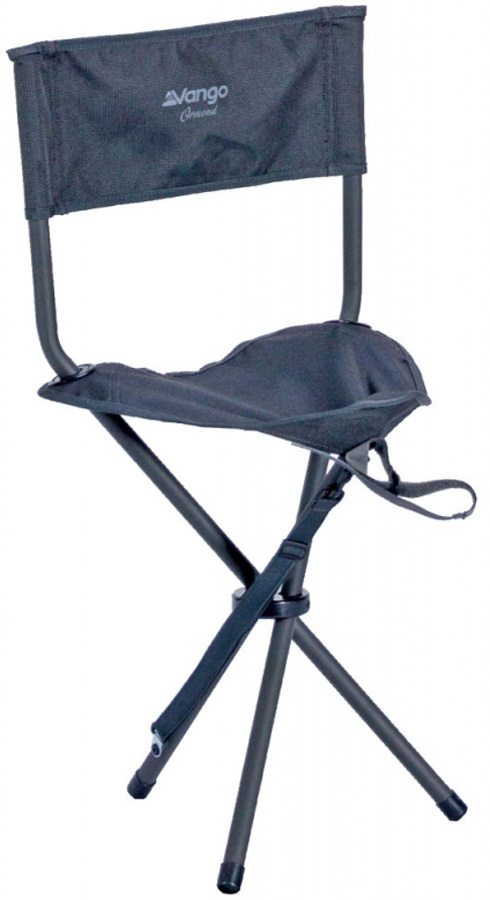 Vango Ormond Camp Stool Compact Camping Chair, Smoke