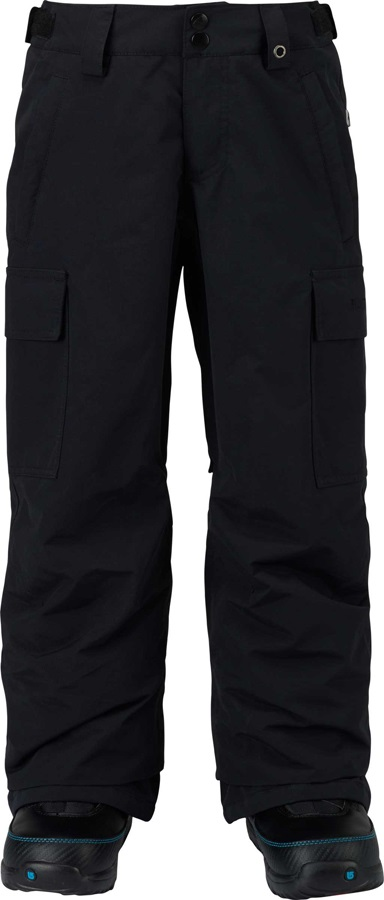Burton Boys Exile Cargo Snowboard Pants, Medium True Black