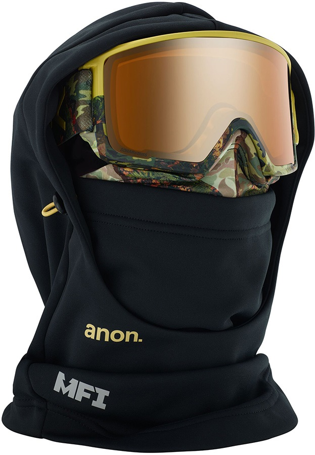 Anon Hooded Balaclava MFI Facemask, Camo Black