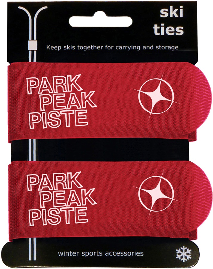 Manbi Jumbo Hook-and-loop Ski Ties OS Red