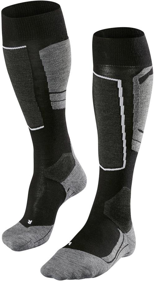 Falke SK4 Merino Wool Women's Ski Socks, UK 2.5-3.5 Black-Mix