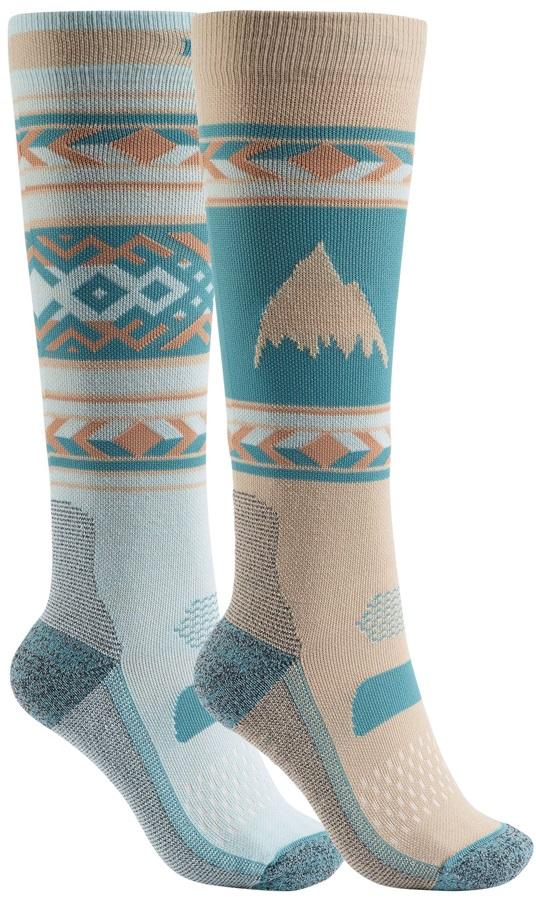 Burton Performance+ Lightweight Women's Ski/Snowboard Socks, S/M Abyss
