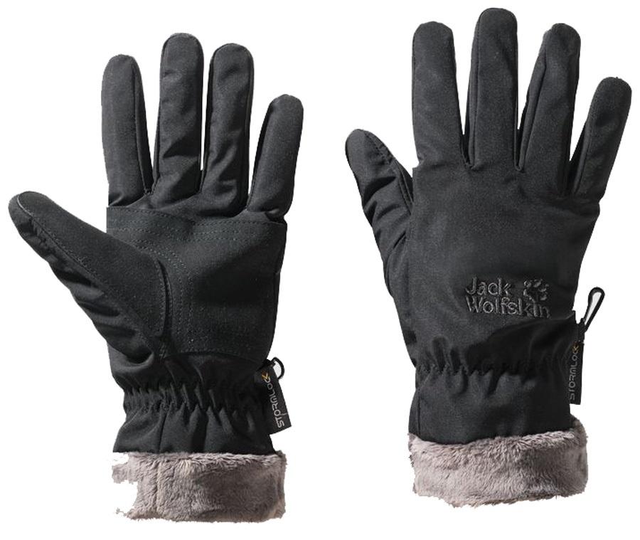 Jack Wolfskin Stormlock Highloft Glove: S, Black