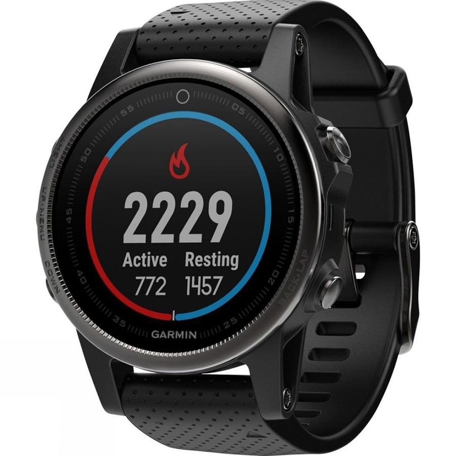Garmin Fenix 5s Sapphire Multisport GPS Smartwatch, Black