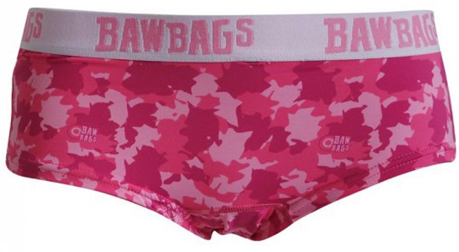 Bawbags Cool De Sacs Women's Underwear Pants, 8 Camo Pink