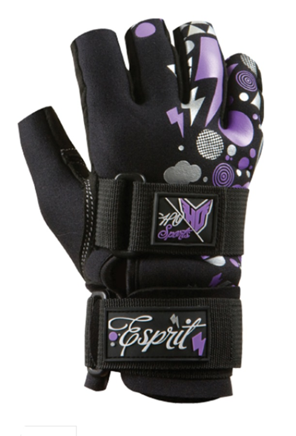 HO Sports Espirit Ladies' 3/4 Waterski Gloves, XS Bl Purple