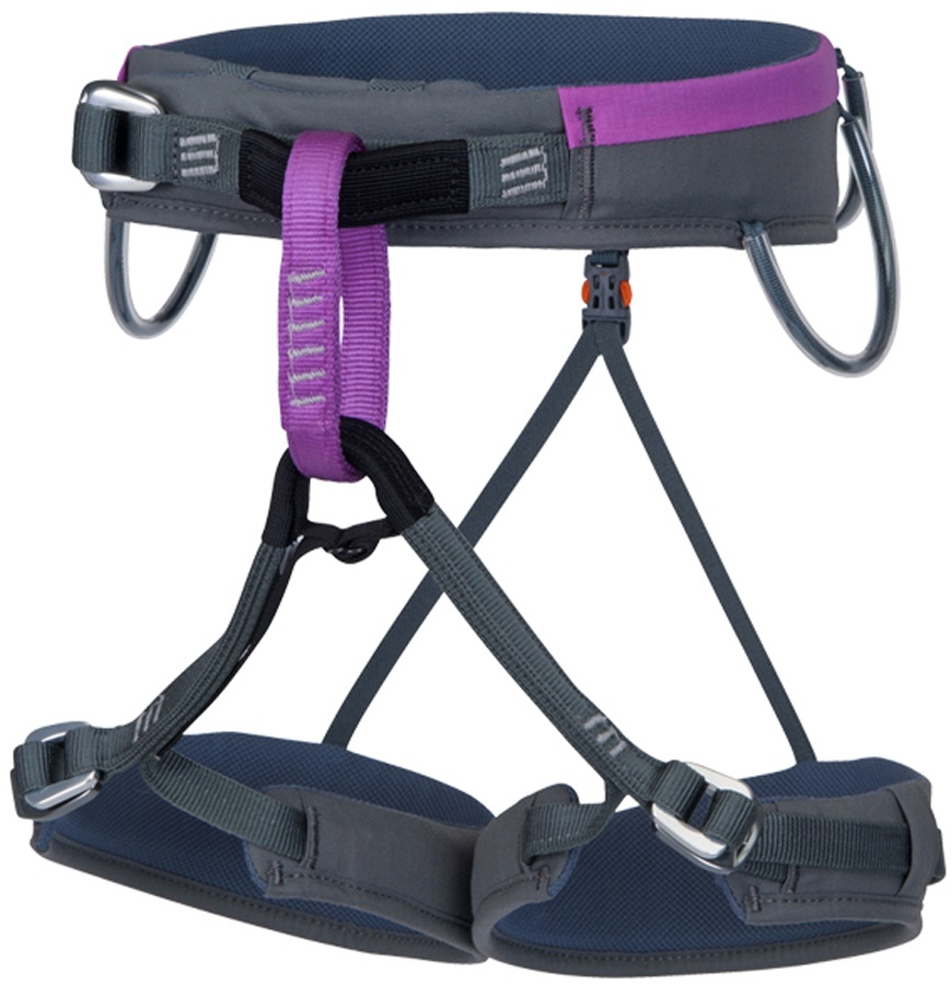 Wild Country Flare Women's Rock Climbing Harness 67-72cm Grey/Purple