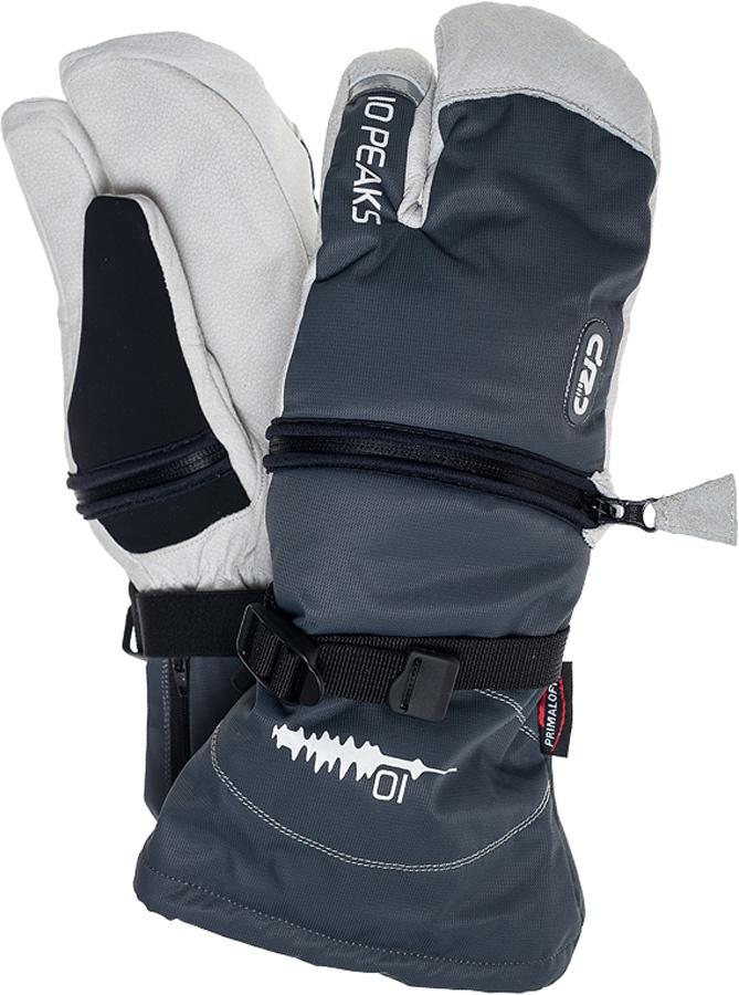 10 Peaks Mount Bowlen Ski/Snowboard Mitts, XS Grey/White