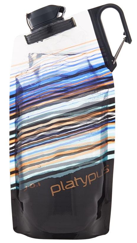 Platypus Duolock Softbottle Flexible Water Bottle, 1L Skyline