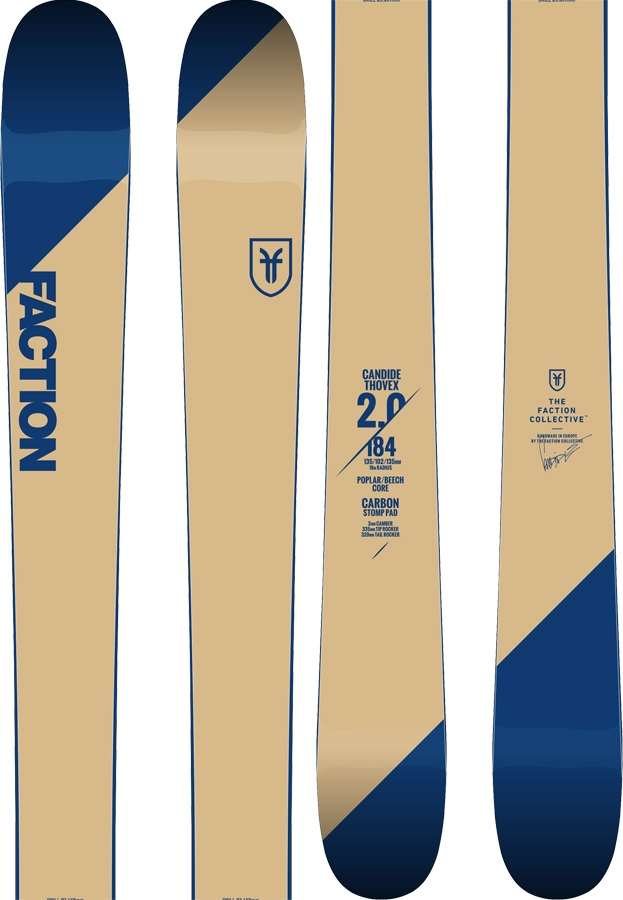 Faction Candide CT 2.0 Skis, 188cm 2019