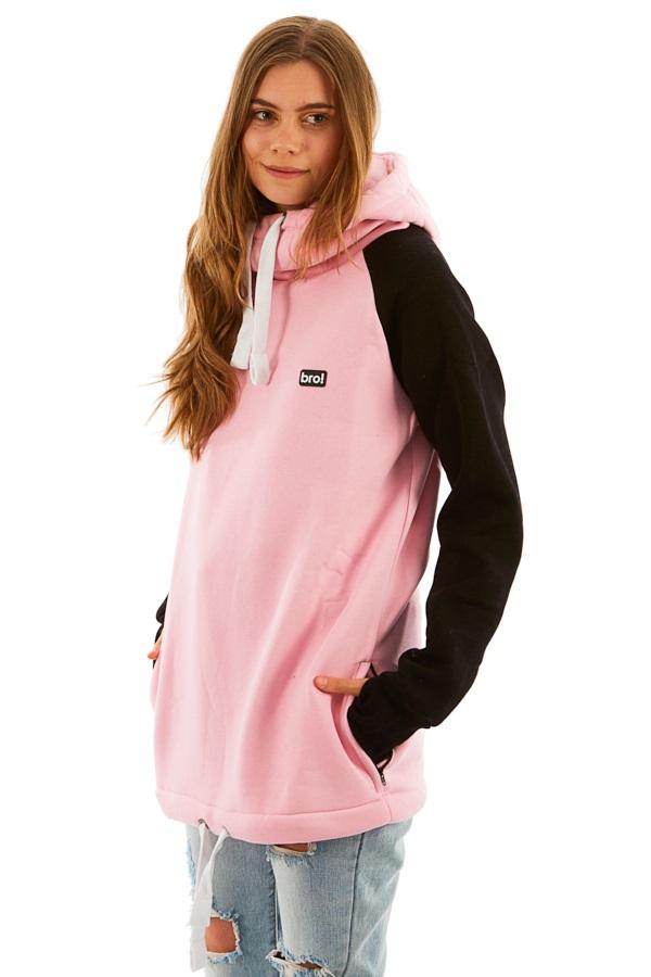 bro! Chill N'shred Ski/Snowboard Hoodie, XL Faded Pink/Black