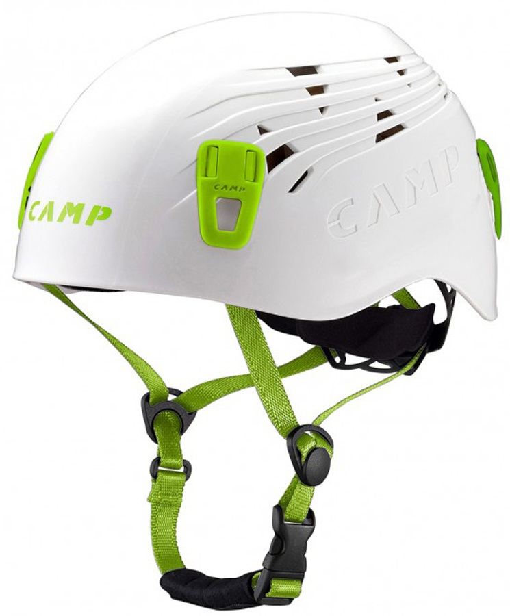 CAMP Titan Rock Climbing Helmet, 48-56cm, White/Green