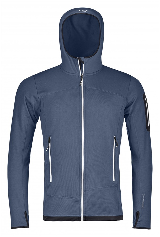 Ortovox Men's Merino (MI) Fleece Light Fullzip Hoody, XL Night Blue