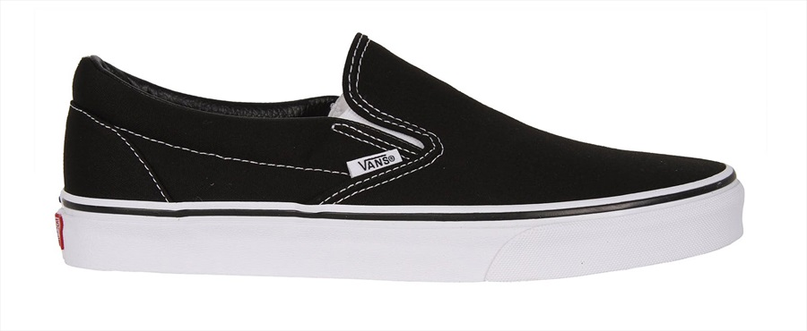 Vans Classic Slip-On Skate Shoes UK 8.5 Black/White