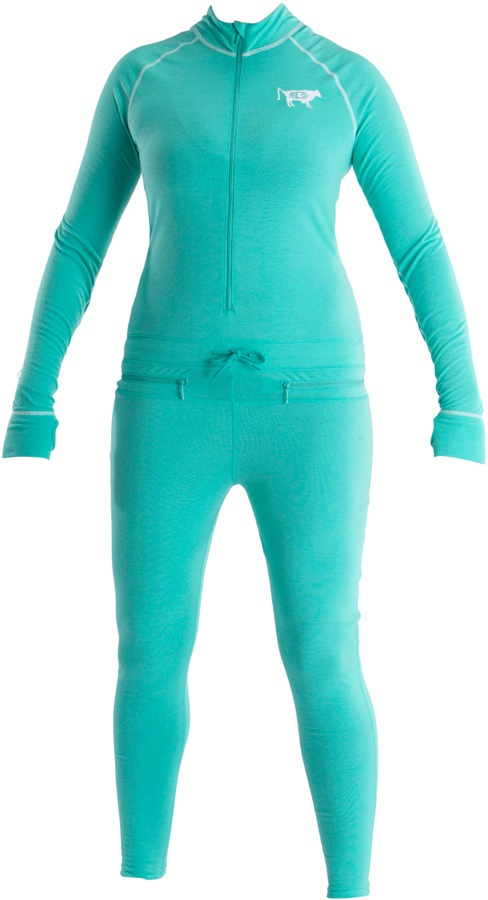 Airblaster Womens Ninja Thermal Base Layer Suit, S GNU Hot Teal
