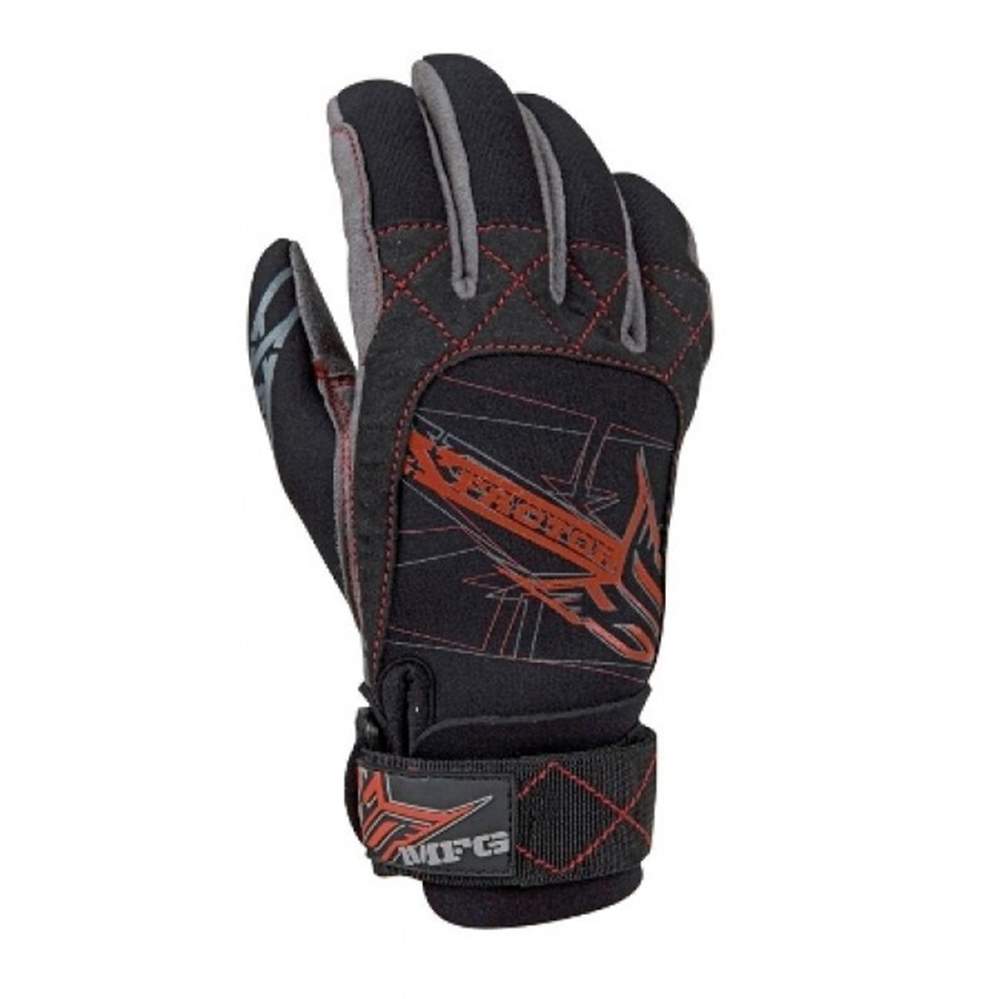 HO Sports X Factor Junior Waterski Gloves, Junior Medium Grey
